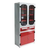 Шкаф аккумуляторщика в кислотостойком исполнении двухстворчатый УКС-013.А.004