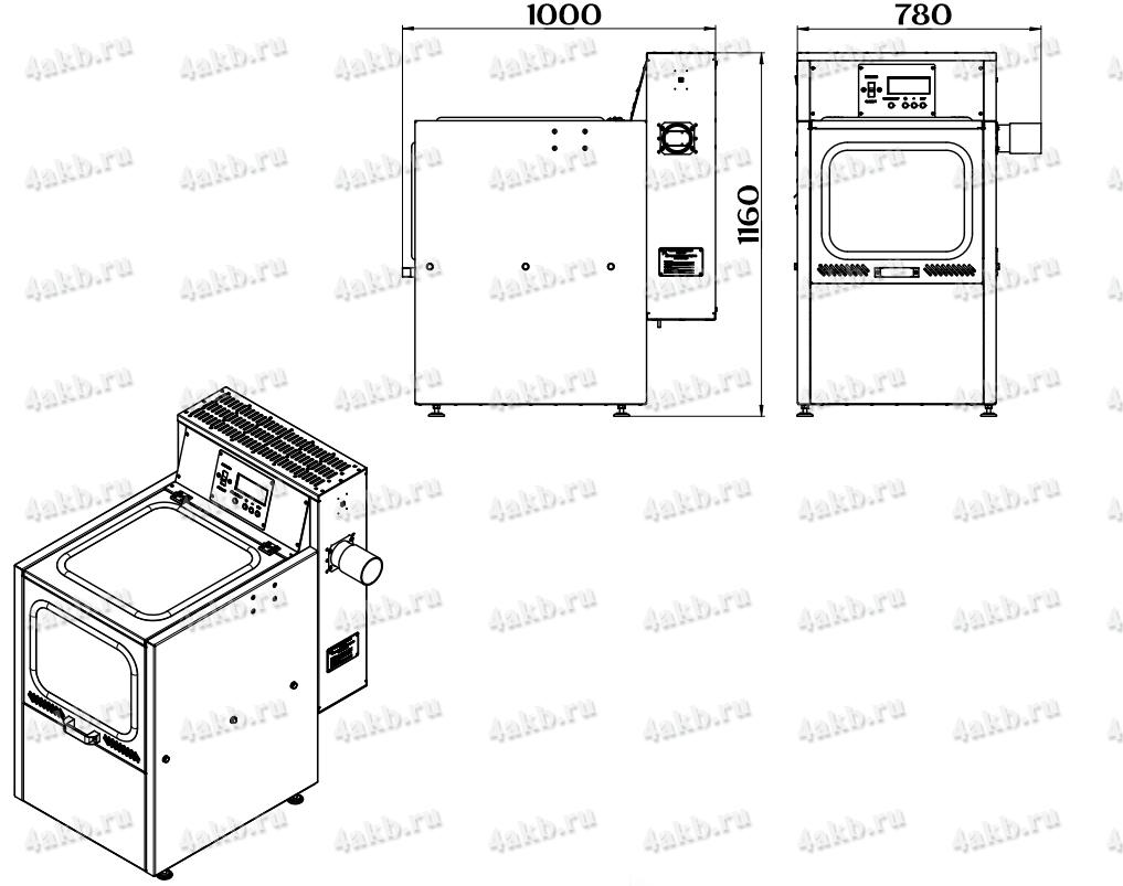 Чертеж зарядно-десульфатирующего шкафа Светоч-04-01.ЖК