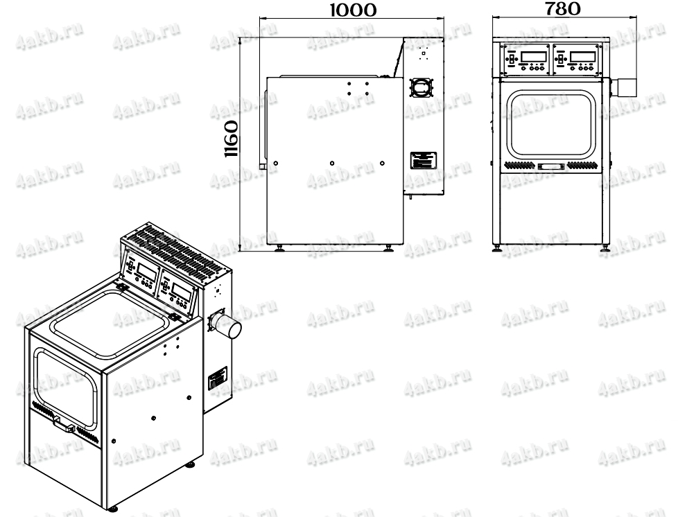 Чертеж зарядно-десульфатирующего шкафа Светоч-04-02.ЖК