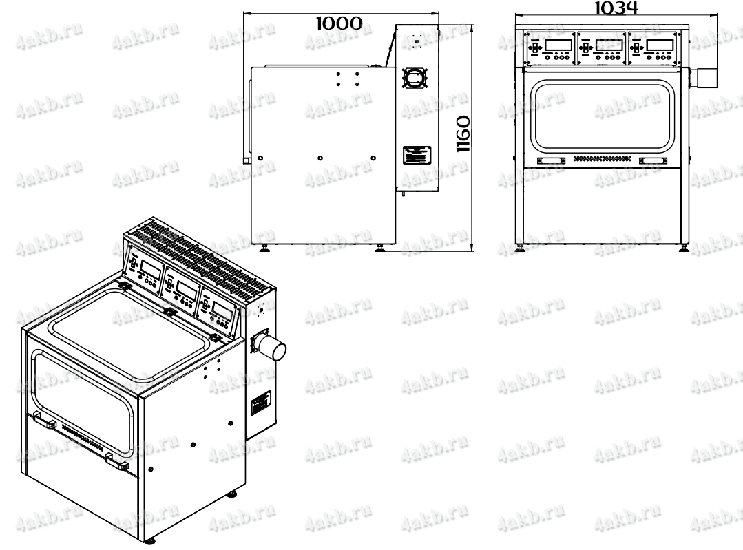 Чертеж зарядно-десульфатирующего шкафа Светоч-04-03.ЖК