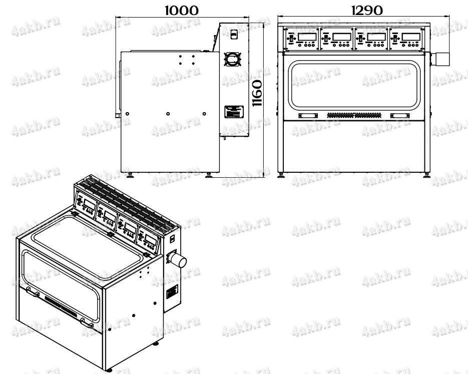 Чертеж зарядно-десульфатирующего шкафа Светоч-04-04.ЖК