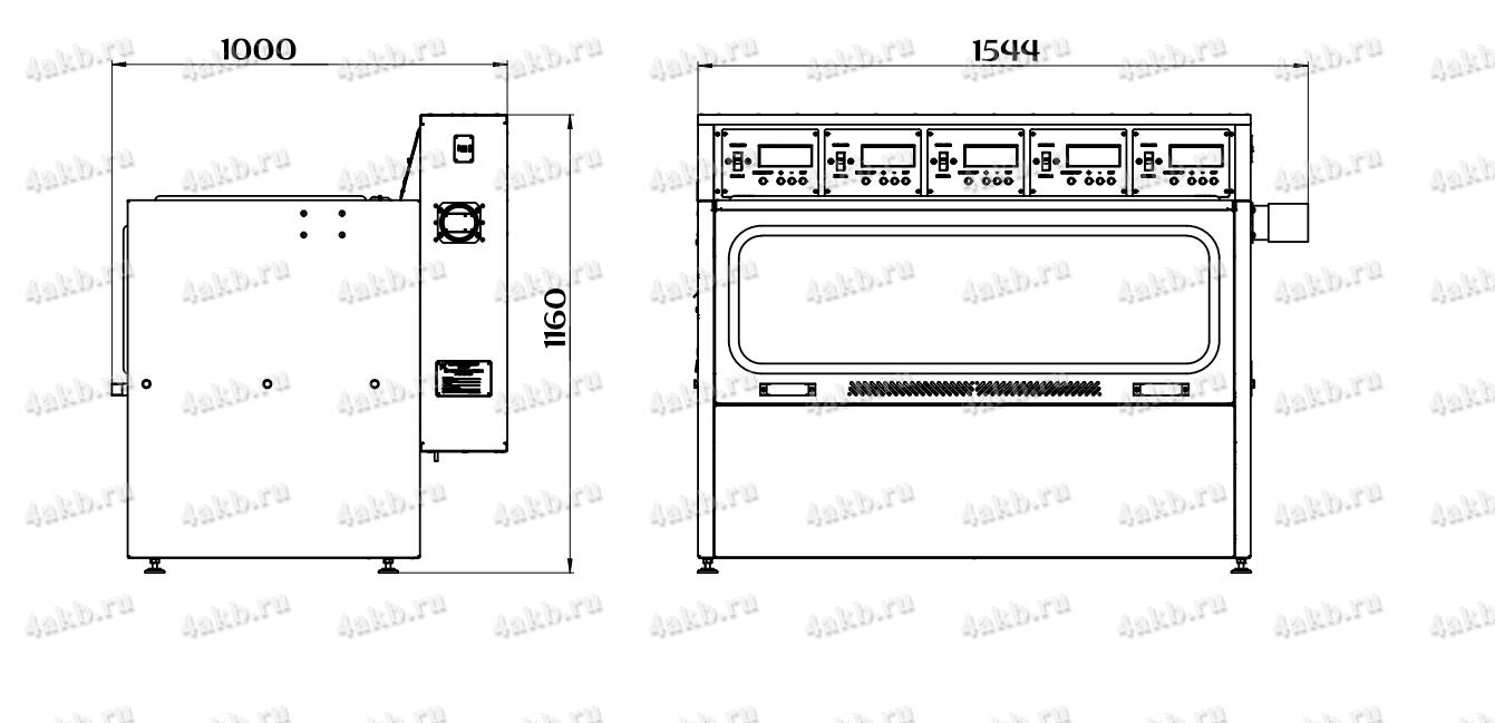 Чертеж зарядно-десульфатирующего шкафа Светоч-04-05.ЖК