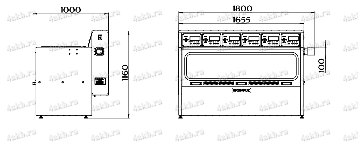 Чертеж зарядно-десульфатирующего шкафа Светоч-04-06.ЖК
