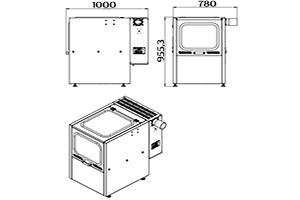 Чертеж зарядного шкафа Светоч-05 без зарядного устройства