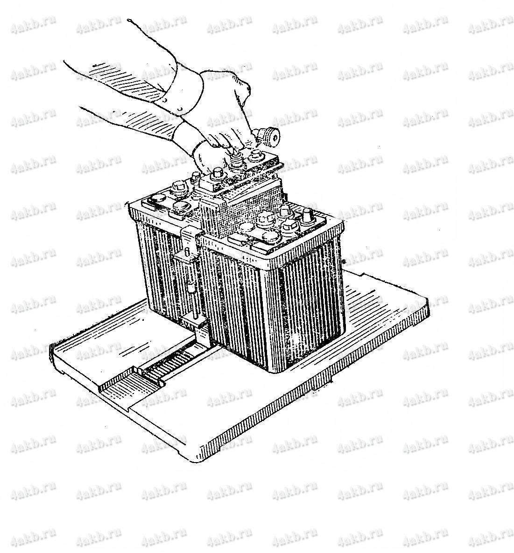 Выемка блока электродов с крышкой с помощью съемника