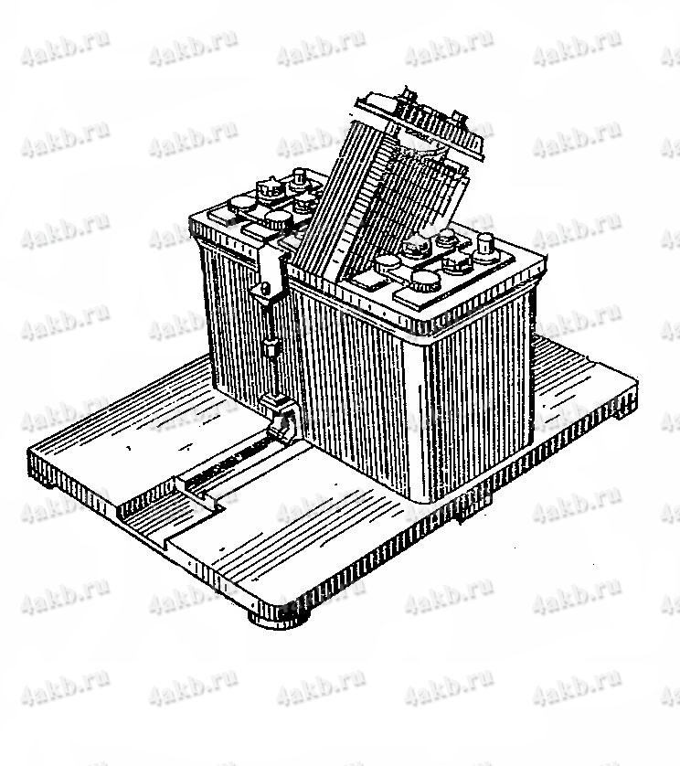 Установка блока электродов для стекания электролита