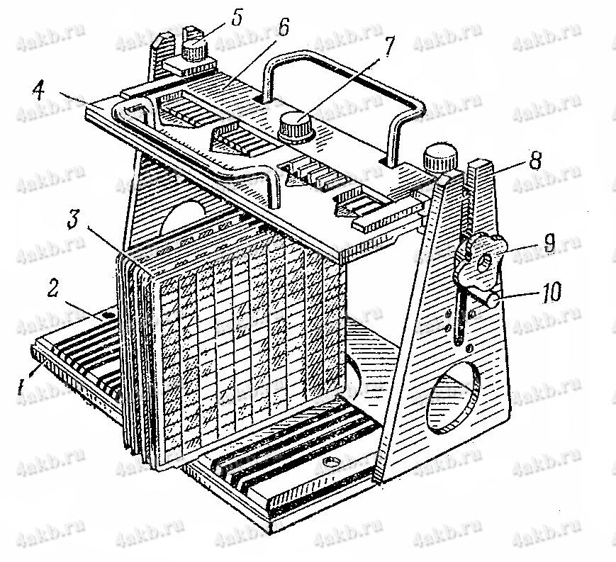 Универсальный кондуктор для пайки полублоков электродов