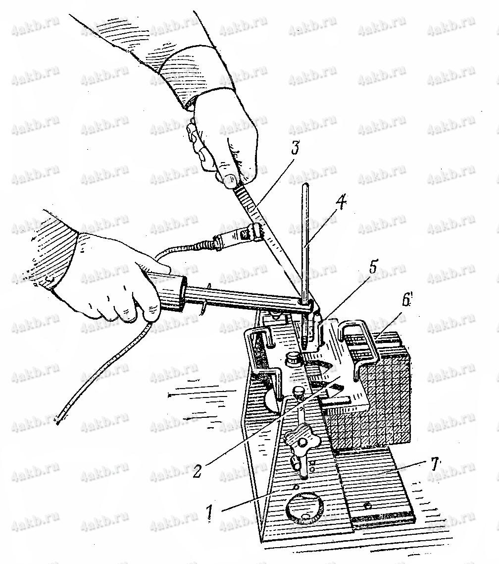 Пайка полублока электродов