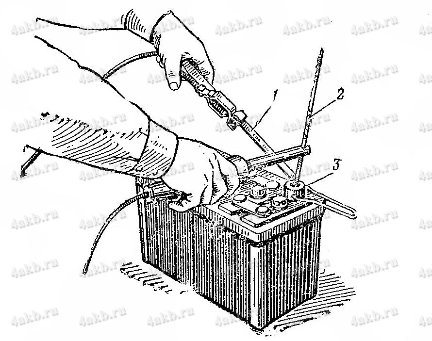 Наварка полюсного вывода автомобильной аккумуляторной батареи