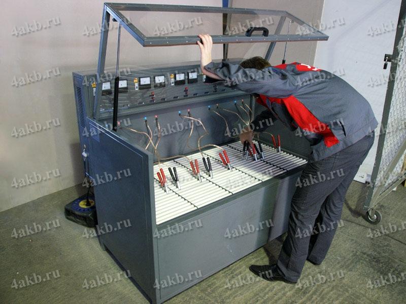 Завод электретехнического оборудования (Тестирование шкафа для заряда аккумуляторных батарей)