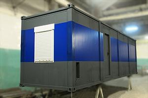 Фотографии аккумуляторной мастерской на базе двух 9-ти метровых контейнеров