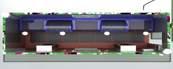 Вид с верху (расположение основного оборудования)