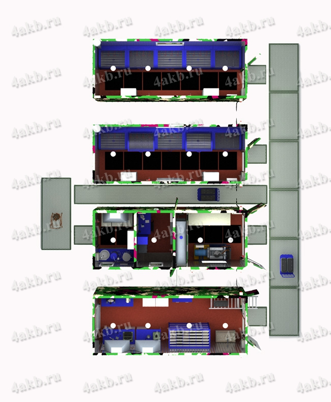 Схема расположения оборудования
