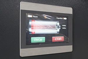 Фото дисплея зарядно-разрядного выпрямителя серии ВЗА-Р