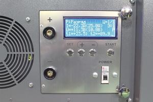 Фотография панели управления шкафом для АКБ