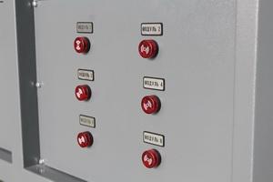 Фотография управления модулями шкафа АЗРК-6