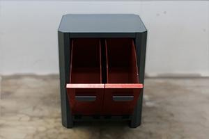 Ящики для хранения ветоши в открытом положении