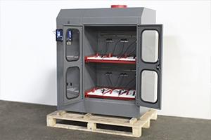 Двухъярусный шкаф Светоч-02-06 в открытом виде