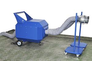 Фото мобильного устройства для вытяжки отработанных газов автомобилей УВВГ-ПРО