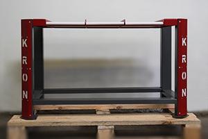 Фото низкого стеллажа для обслуживания АКБ вид спереди