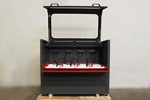 Фото зарядно-разрядного  шкафа серии Светоч-04 в открытом виде