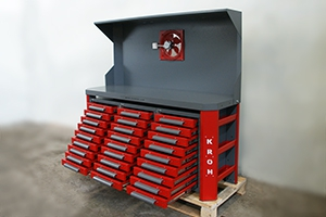фото стола для ремонта акб КРОН-СДР-999 в открытом виде