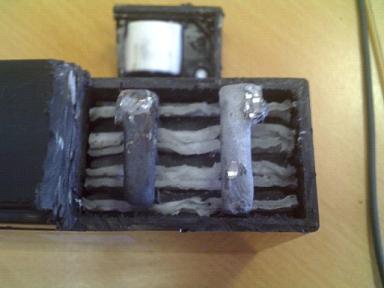 аккамуляторная батарея в разрезе