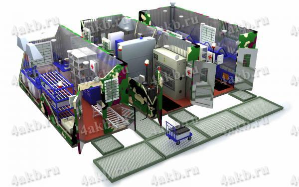 Мобильная аккумуляторная мастерская на базе 3-х контейнеров