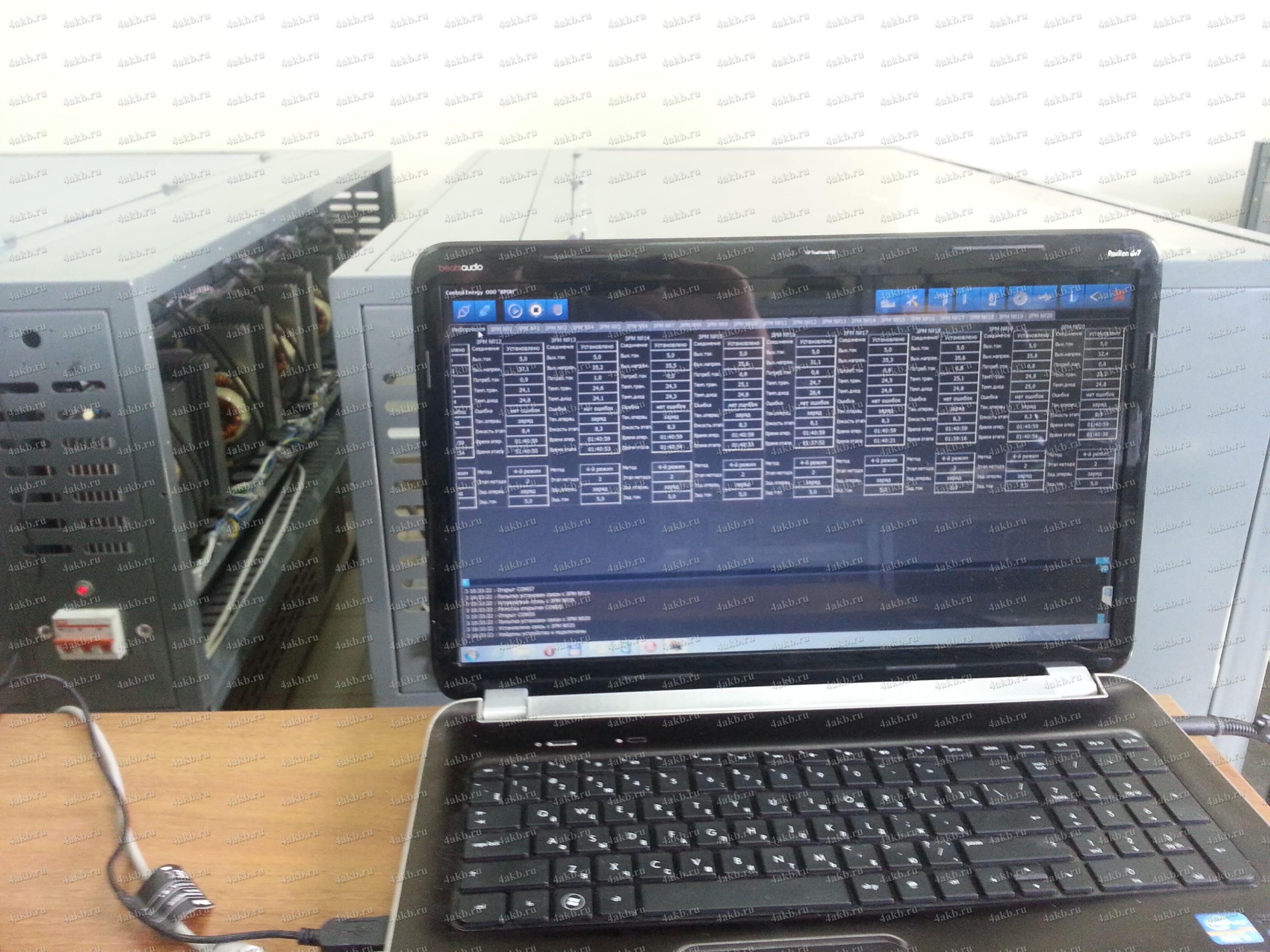 Процесс заряда контролируется программой ControlEnergy2