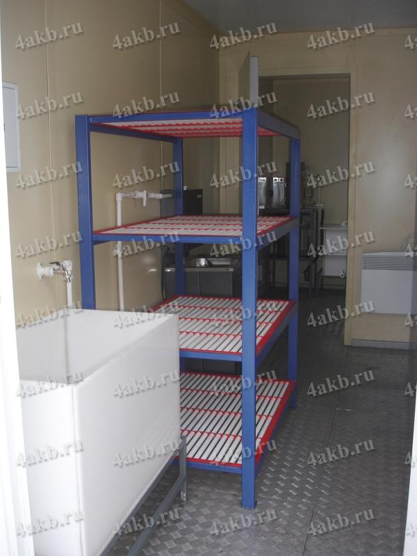 Аккумуляторная мастерская: стеллаж для хранения аккумуляторных батарей