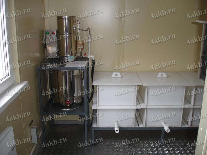 Аккумуляторная мастерская: место для производства дистиллированной воды