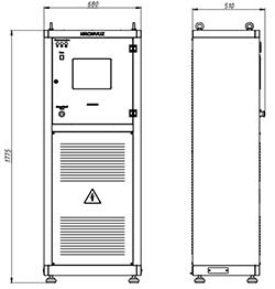 Чертеж нового корпуса автоматического зарядного выпрямителя (ВЗА)