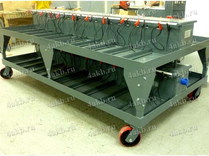 Тележка для хранения и подзарядки на 40 АКБ