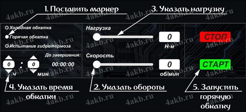 Программное обеспечение обкаточного стенда