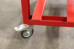 Комплект колес установленный на разливатель кислоты