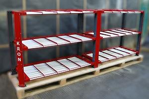 Фотография роликового стеллажа для хранения 30 аккумуляторов