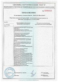 Фото сертификата соответствия