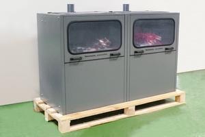 Фото металлического шкафа-стеллажа для зарядки АКБ АЗР-6-МС