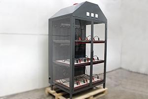 Шкаф для хранения 12 аккумуляторных батарей Светоч-03-12 вид сбоку