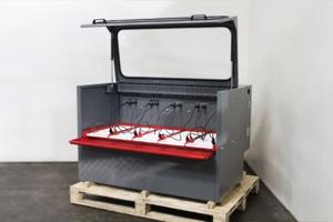 Выдвижной металлический поддон для сбора электролита