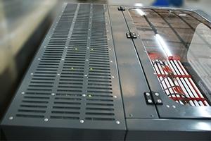 Место установки зарядно-разрядных модулей на шкафу серии Светоч-Авиа-04
