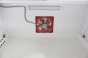 Фото вентиляции и освещения шкафа ШВ-003