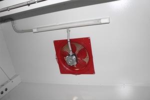 Фотография вентиляции с освещением в шкафу