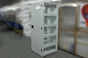 Шкаф для хранения АКБ серии ШМА-01 со снятыми боковыми стенками