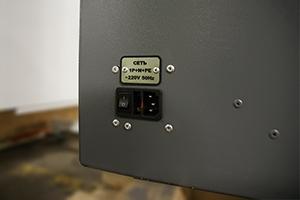 Разъемы для подключения внешнего электропитания установленные на шкафу