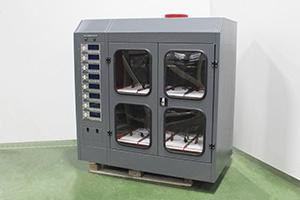 Вид сбоку шкафа для заряда Светоч-02-08.ЖК