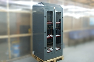 Трехъярусный шкаф для заряда аккумуляторных батарей без зарядного устройства серии Светоч-03-09
