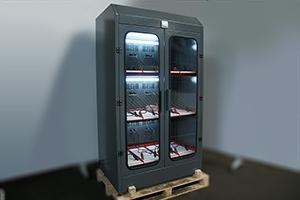 Фотографии трехъярусного шкафа Светоч-03-12для 12 акб