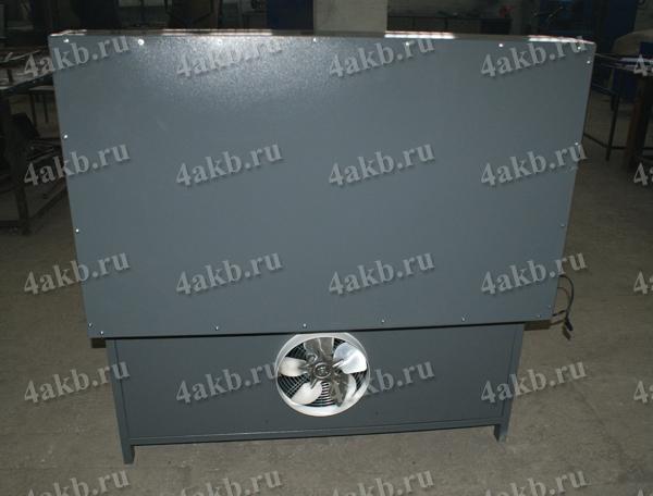 Шкаф для заряда аккумуляторных батарей серии Светоч-04. Вид сзади. Система вентиляции