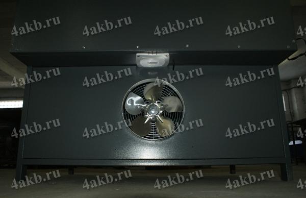 Шкаф для зарядки аккумуляторных батарей серии Светоч-04. Вид сзади. Система вентиляции